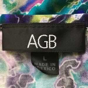 AGB Tops - AGB Abstract Layered Blouse